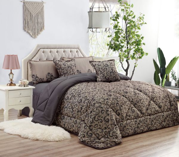 طقم مفرش سرير مزركش